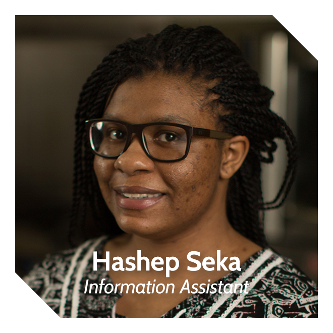 Hashep Seka, Information Assistant